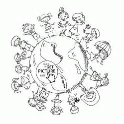 happy kids earth coloring kids coloring pages printables free wuppsy