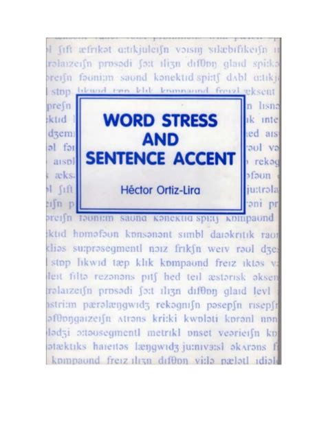 accentual pattern of words and sentences word stress and sentence accent by ort 237 z lira
