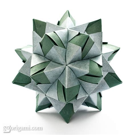 Origami Polyhedron - origami spikes and stellated polyhedra gallery go origami