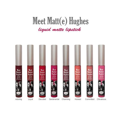 The Balm Hughes Matte Lipstick Waterproof Makeup the balm meet matt e hughes liquid lipstick devoted commited makeup the o