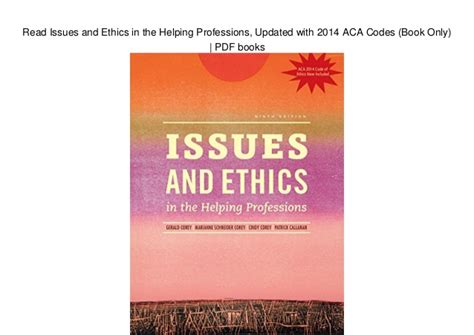 Pdf Issues Ethics Helping Professions Updated read issues and ethics in the helping professions updated