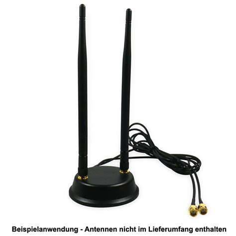 2x2 mimo magnet base for wifi antenna 1 5m cable