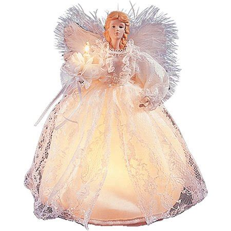 kurt adler angel tree topper kurt adler 10 l white tree topper walmart