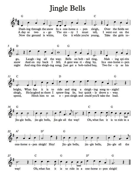 printable sheet music for jingle bells free lead sheet jingle bells michael kravchuk