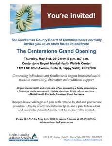 Grand Opening Letter Sle by Subject You Re Invited Centerstone Grand Opening Mental Health Association Of Portland