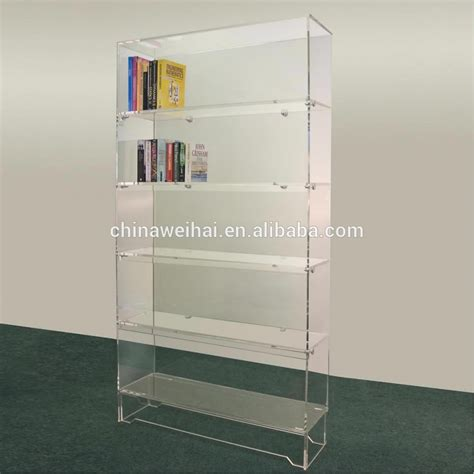 clear wall mounted acrylic book shelf display buy clear