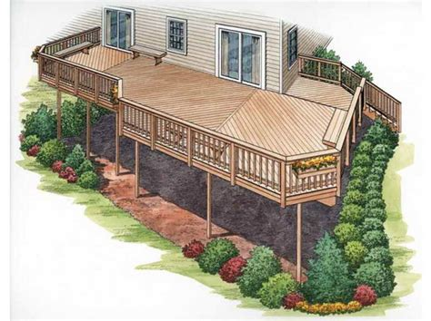 Outdoor Find The Right House Deck Plans With Park Design Find The Right House Deck