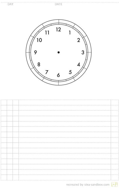 clock schedule template circle of time planner idea sandbox