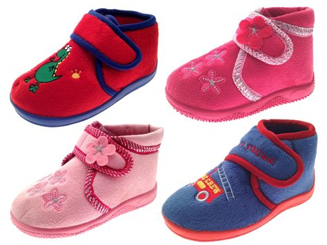 Kids Boys Girls Toddlers Slippers Boots Booties Childrens Shoes Xmas Size 4 10 Ebay