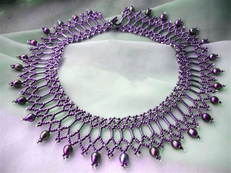 jewelry free free pattern for beautiful beaded necklace diane magic