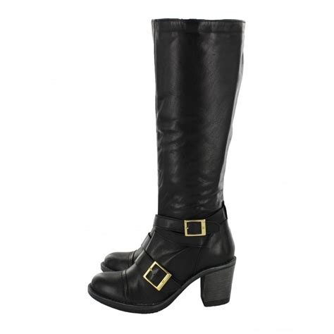 marta jonsson knee high boot with buckles 6082l s