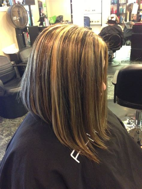 long bobs and highlights inverted long bob beauty pinterest brown highlights
