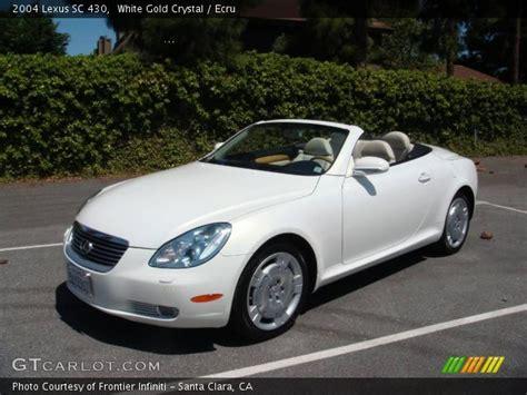 lexus sc430 gold white gold 2004 lexus sc 430 ecru interior