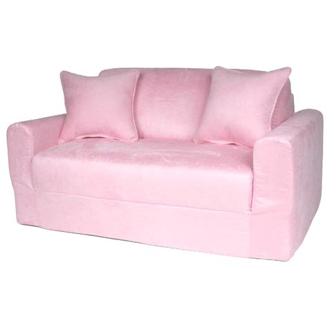 Kids Sofa Sleeper In Pink Micro Suede Dcg Stores Toddler Sleeper Sofa