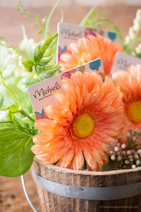 Michael S Flowers Cards Gift - gift card flower pot teacher appreciation gifts a night owl blog