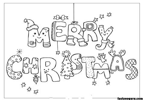 printable coloring pages of christmas merry christmas print out coloring pages printable