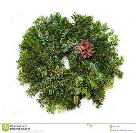 traditional green christmas wreath royalty free stock