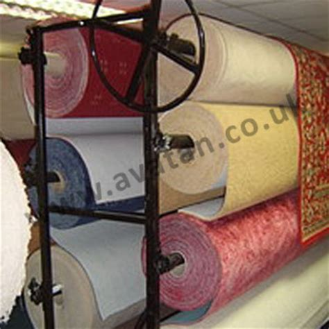 sided carpet roll storage rack display stand avatan