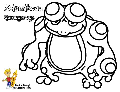 pokemon coloring pages palpitoad free pokemon sawk coloring pages