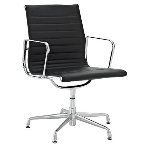 office furniture side chairs lexmod ribbed mid back conference office side chair in