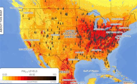 air pollution map america this incredibly detailed map shows global air pollution
