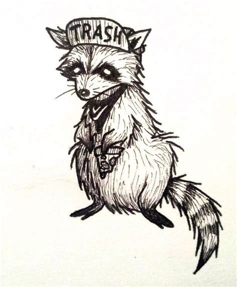 punk rock tattoo designs trash raccoon idea rock so