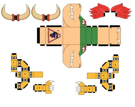 Bowser Papercraft - bowser v2 by zienaxd on deviantart