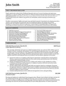 Education Resume Templates by Early Childhood Educator Resume Template Premium Resume Sles Exle