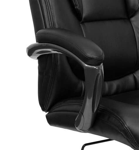 leather office chair black high back executive chair