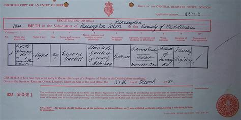 full birth certificate ni gaubert certificates of births christenings baptisms