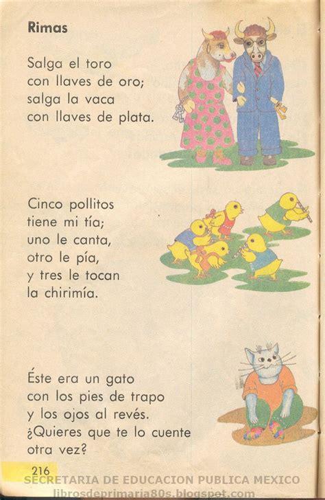 libros de primaria en los 80 libros de primaria de los 80 s rimas libro de primero