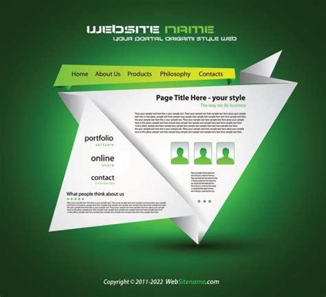 Origami Websites - origami website design 03 vector free vector in