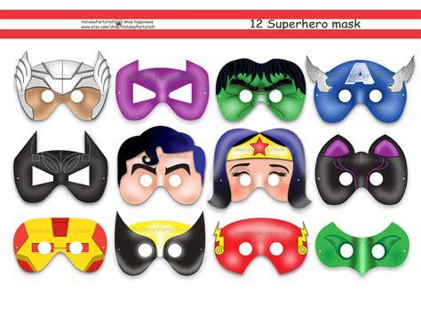 printable heroes mask 12 superhero printable masksparty by holidaypartyhall on