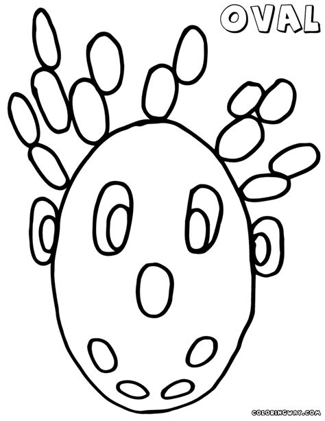 oval coloring pages coloring pages to and print