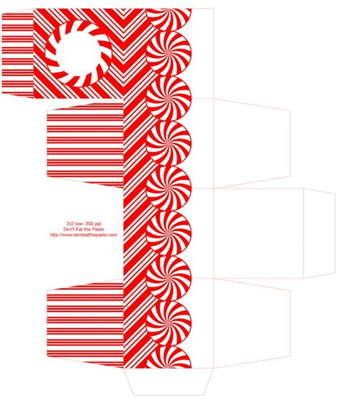 printable christmas boxes 185 best christmas peppermint images on pinterest xmas