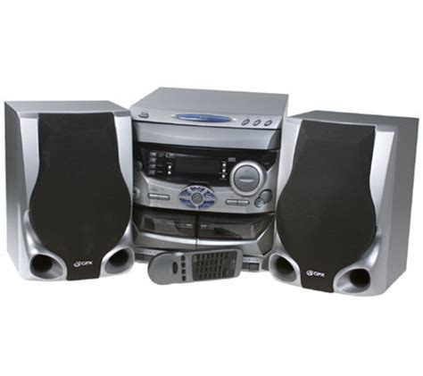 gpx 3 cd home stereo system with digital stereo qvc