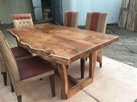 edge wood table sundara live edge table solid wood live edge dining
