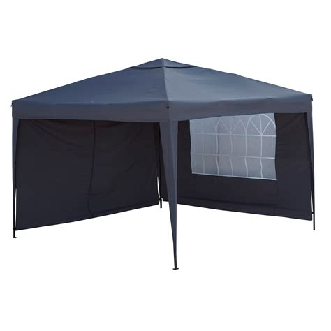 gazebo b q blooma tudy pop up black gazebo departments diy at b q