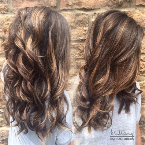 brunette with blonde highlights for women 50 and over 60 hottest balayage hair color ideas 2017 balayage
