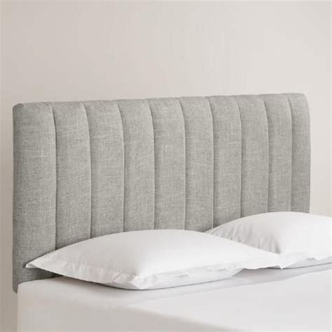 solid upholstered headboards linen reilly upholstered headboard guest bedrooms an