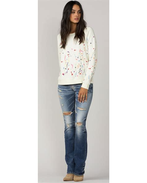 White Color Paint Sweater mm vintage white paint splatter sleeve sweater sheplers