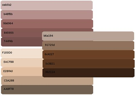 skin shades palettes by viktoria lyn on deviantart