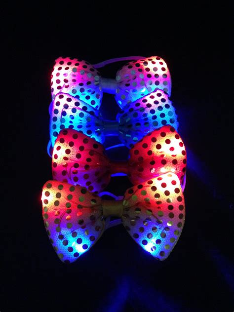 30ppcs halloween christmas wedding party glowing tie light