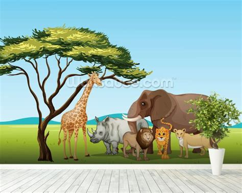 safari wall mural safari wallpaper wall mural wallsauce canada