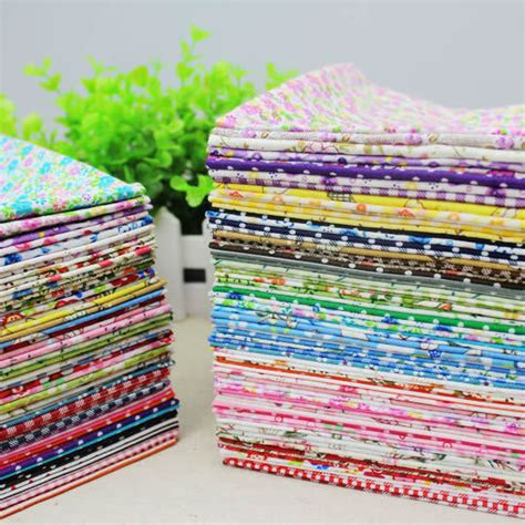 Patchwork Material Packs - 50pieces 20 25cm remnant cotton fabric charm packs
