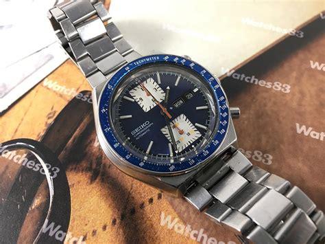 Seiko Kakume seiko kakume blue chronograph vintage automatic ref