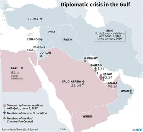 middle east relationship map gulf crisis 7 countries cut ties with qatar 7 lakh