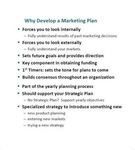 developing a marketing plan template simple marketing plan template 12 free sle exle