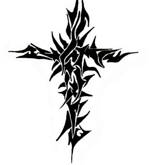 free design tribal cross tattoos inofashionstyle com