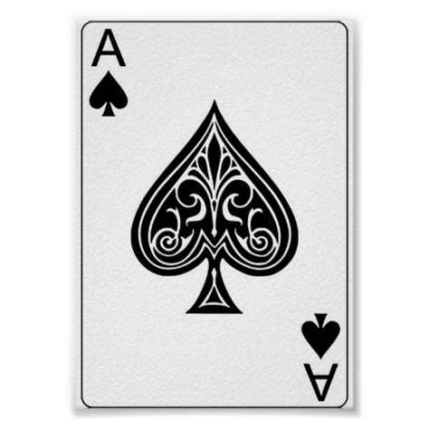printable playing cards spades ace gifts t shirts art posters other gift ideas zazzle